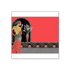 Flapper Lady - Salmon Pink Outfit Sticker