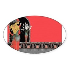 Flapper Lady - Salmon Pink Outfit Decal