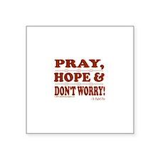 "Cute Catholic faith Square Sticker 3"" x 3"""