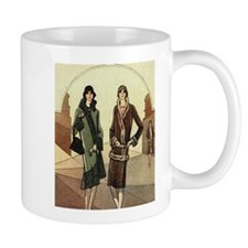 Flapper Girls Winter Fashions Mugs