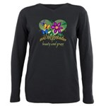 Butterflygrandmother.png Plus Size Long Sleeve Tee