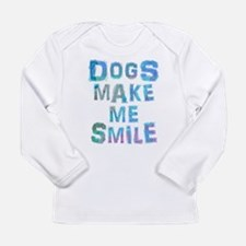 Funny Warhol dog Long Sleeve Infant T-Shirt