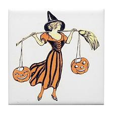 Vintage Halloween Dress 2 Tile Coaster