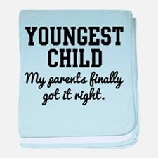 Youngest Child baby blanket