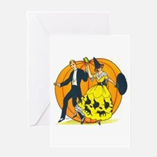 Vintage Halloween Costume Ball Greeting Cards