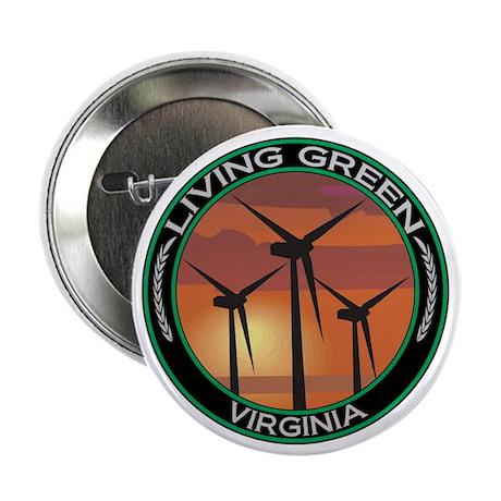 """Living Green Virginia Wind Power 2.25"""" Button (100"""