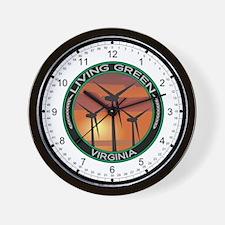 Living Green Virginia Wind Power Wall Clock