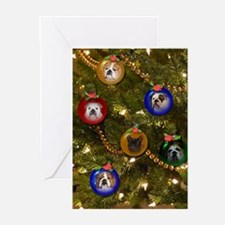 Bulldog Ornament Christmas Holiday Greeting Cards