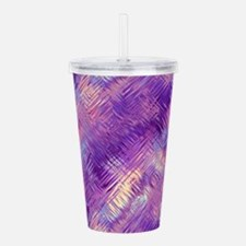 Pretty Purple Crystal Acrylic Double-wall Tumbler