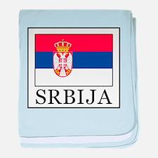 Srbija baby blanket