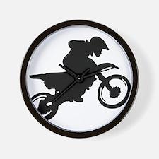 Motorcycle trials Wall Clock