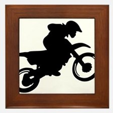 Motorcycle trials Framed Tile