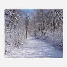 Snow Trail Scenery Throw Blanket