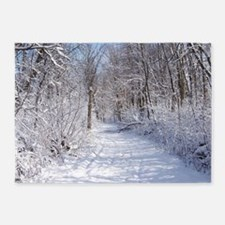 Snow Trail Scenery 5'x7'Area Rug