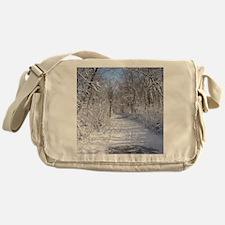 Snow Trail Scenery Messenger Bag