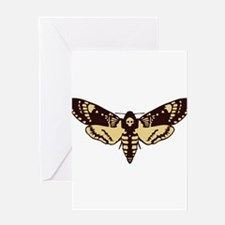 skull butterfly Greeting Cards