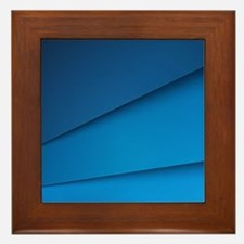 Abstract Layers Framed Tile