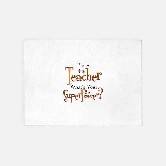 Super Teacher 5'x7'Area Rug