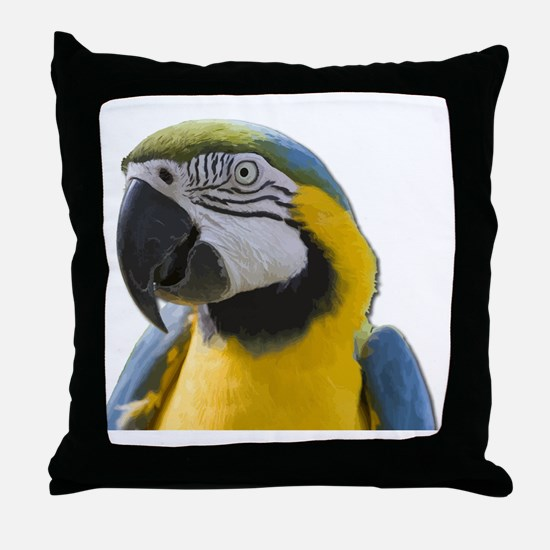 Unique Yellow and blue Throw Pillow