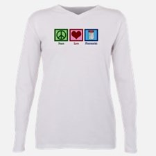 Peace Love Pharmacist Plus Size Long Sleeve Tee