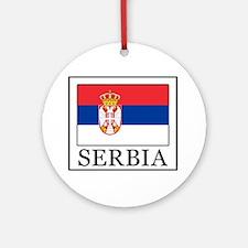 Serbia Round Ornament