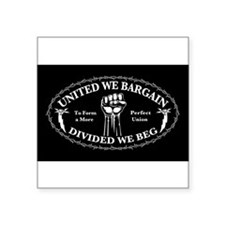 "Funny Protest Square Sticker 3"" x 3"""