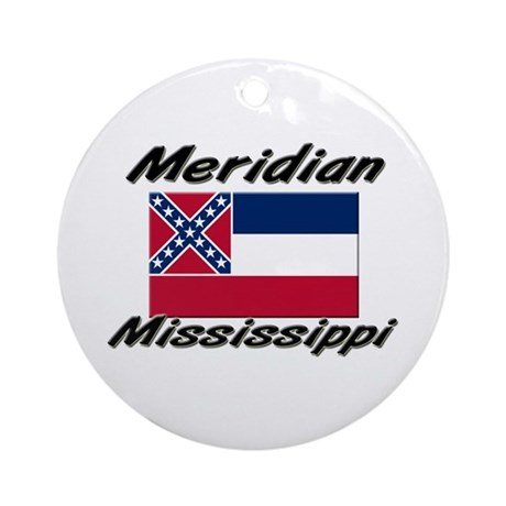 Meridian Mississippi Ornament (Round)