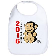 2016 Year of The Monkey Baby Bib