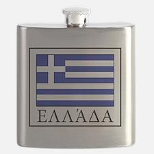 Cute Greece flag Flask