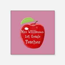 Personalised Teacher Apple Painting Sticker