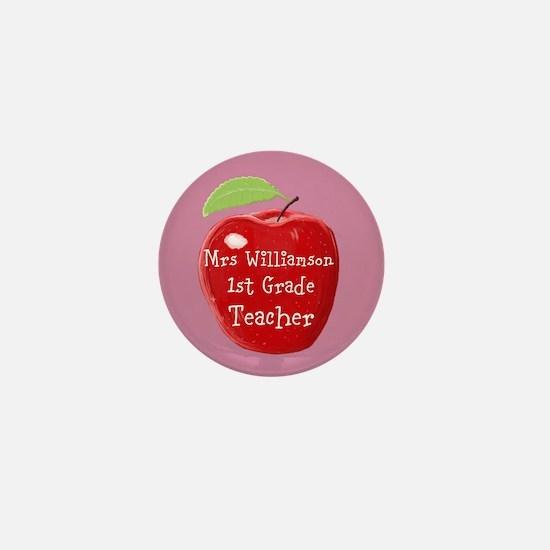 Personalised Teacher Apple Painting Mini Button