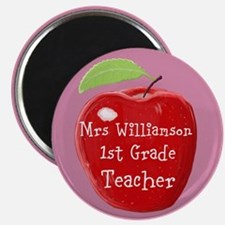 Personalised Teacher Apple Painting Magnets
