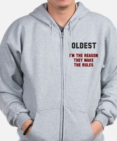 Oldest Middle Youngest Rules Zip Hoodie