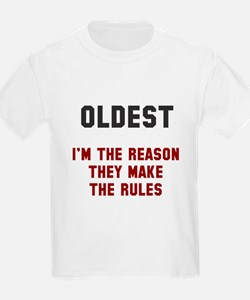 Oldest Middle Youngest Rules T-Shirt