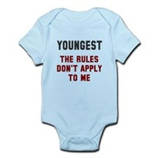 Oldest Middle Youngest Rules Onesie