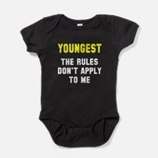Oldest Middle Youngest Rules Baby Bodysuit