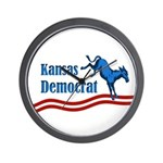 Kansas Democrat Wall Clock