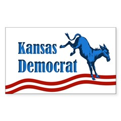 Kansas Democrat bumper sticker