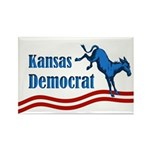 Kansas Democrat Rectangle Magnet