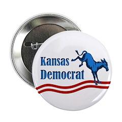Kansas Democrat Button