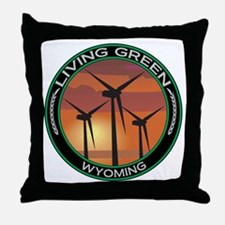 Living Green Wyoming Wind Power Throw Pillow