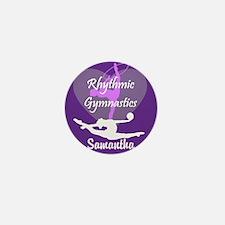 Purple Rhythmic Gymnastics Mini Button