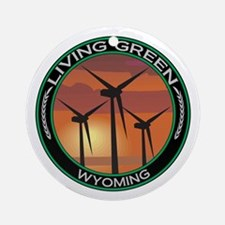 Living Green Wyoming Wind Power Ornament (Round)