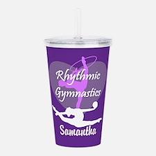 Purple Rhythmic Gymnastics Acrylic Double-wall Tum