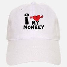 I Love My Monkey Baseball Baseball Cap