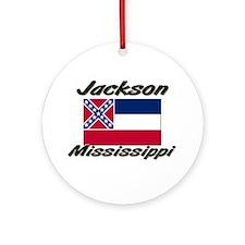 Jackson Mississippi Ornament (Round)