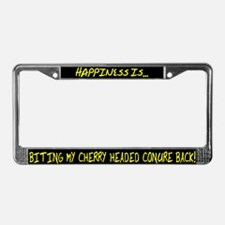 HI Biting Cherry Headed Conure License Plate Frame
