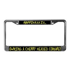HI Owning Cherry Headed Conure License Plate Frame
