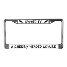 Owned by Cherry Headed Conure License Plate Frame