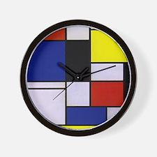 Mondrian-1 Wall Clock